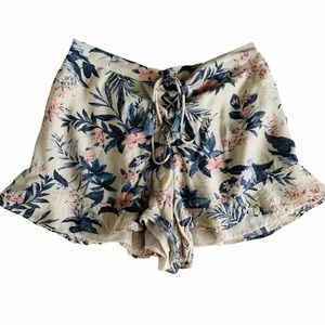 American Eagle Outfitters Floral Ruffle Shorts